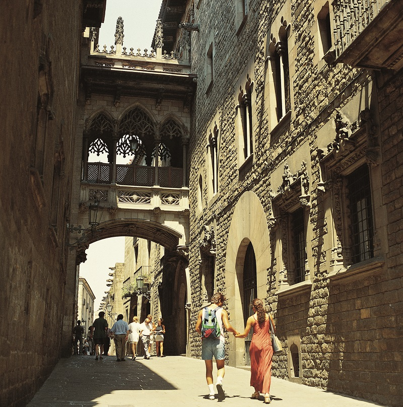 Carrer del Bisbe © Espai d'imatge Turisme de Barcelona