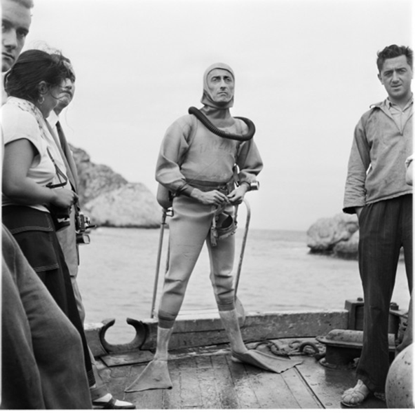 1956: Jacques-Yves Cousteau an der Costa Brava