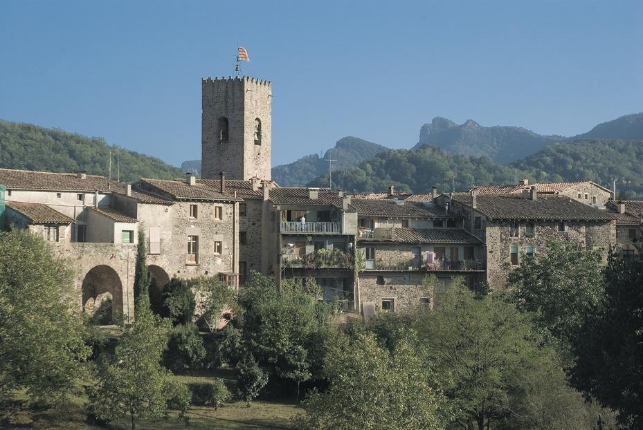 Santa Pau, Katalonien Pyreäen Schöne Dorfer